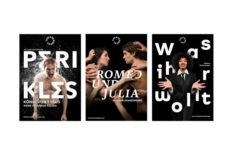 3 Plakate für Theater Total